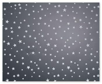 Silver Stars Polypropylene Film Rolls, 30