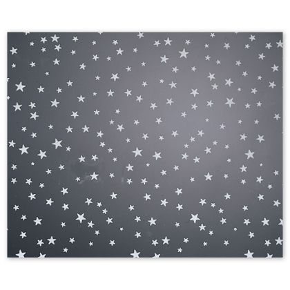 "Silver Stars Polypropylene Film Rolls, 30"" x 100'"