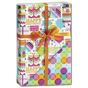 Happy Celebration Reversible Gift Wrap, 24