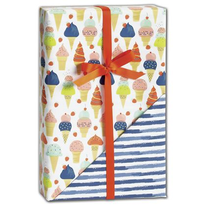 "Sweet Celebration Reversible Gift Wrap, 24"" x 417'"