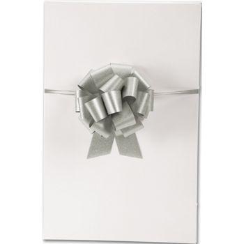 Silver Super Glitter Pull Bows, 5 1/2