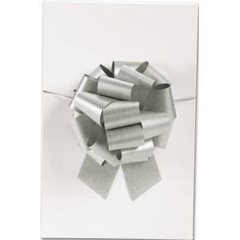 Silver Super Glitter Pull Bows, 8