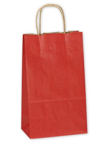 Really Red Double Bottle Shoppers, 8 x 4 3/4 x 13 5/8