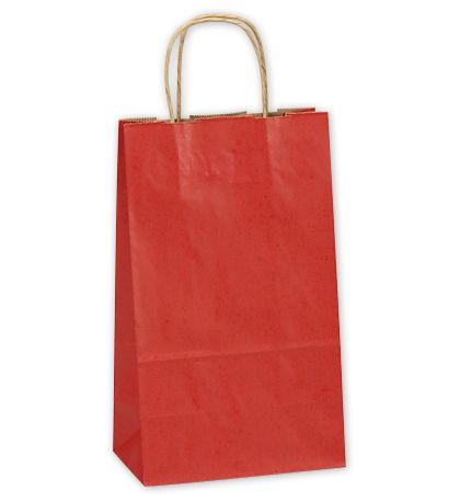 Really Red Double Bottle Shoppers, 8 x 4 3/4 x 13 5/8""