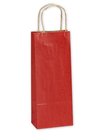 Really Red Single Bottle Shoppers, 5 1/2 x 3 1/4 x 12 1/2