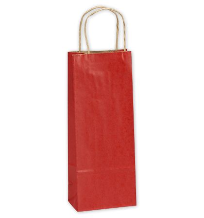 Really Red Single Bottle Shoppers, 5 1/2 x 3 1/4 x 12 1/2""