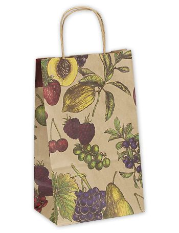 Fruit Bowl Double Bottle Shoppers, 8 x 4 3/4 x 13 5/8