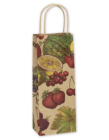 Fruit Bowl Single Bottle Shoppers, 5 1/2 x 3 1/4 x 12 1/2