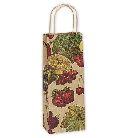 "Fruit Bowl Single Bottle Shoppers, 5 1/2 x 3 1/4 x 12 1/2"""