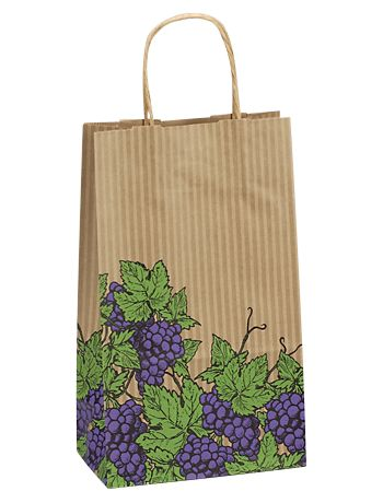 Grapes Double Bottle Shoppers, 8 x 4 3/4 x 13 5/8