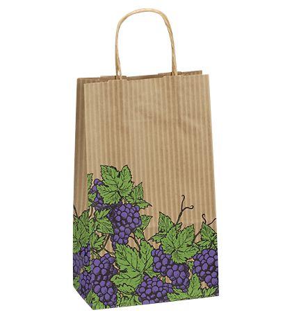 """Grapes Double Bottle Shoppers, 8 x 4 3/4 x 13 5/8"""""""