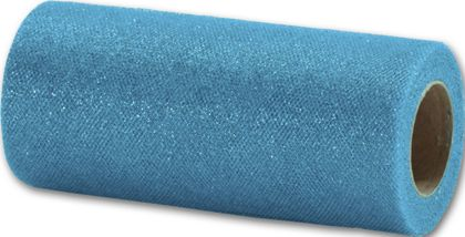 """Turquoise Sparkle Tulle, 6"""" x 25 Yds"""