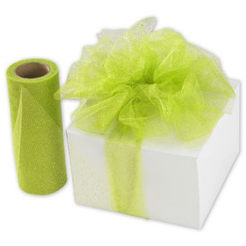 Apple Green Sparkle Tulle, 6