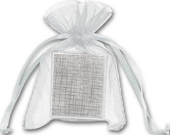 Silver Organdy Bags, 3 x 4