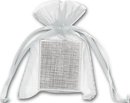 """Silver Organdy Bags, 3 x 4"""""""