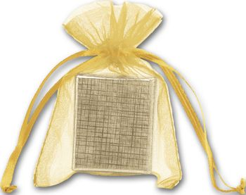 Gold Organdy Bags, 3 x 4