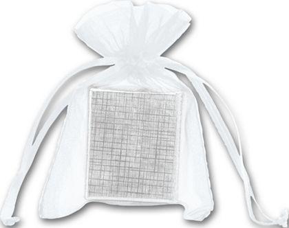 "White Organdy Bags, 3 x 4"""