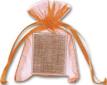 Orange Organdy Bags, 3 x 4