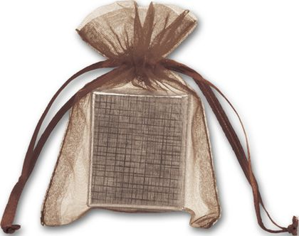 Brown Organdy Bags, 3 x 4""