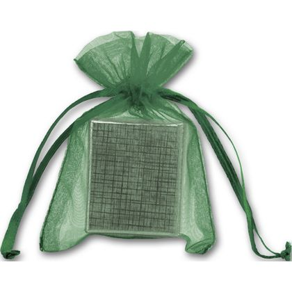 "Green Organdy Bags, 3 x 4"""