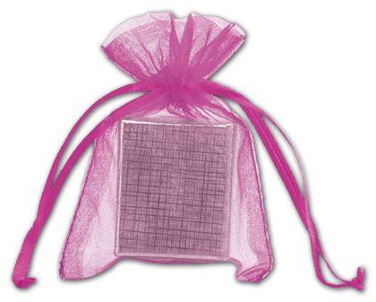 """Fuchsia Organdy Bags, 3 x 4"""""""