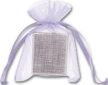 Lavender Organdy Bags, 3 x 4