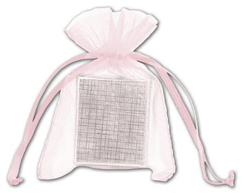Light Pink Organdy Bags, 3 x 4
