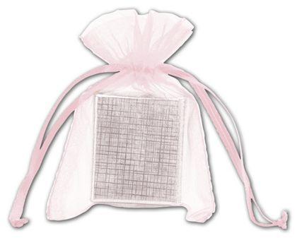 "Light Pink Organdy Bags, 3 x 4"""