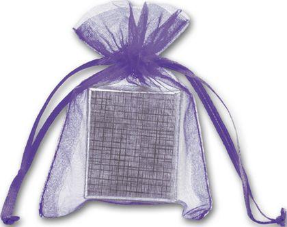 "Purple Organdy Bags, 3 x 4"""
