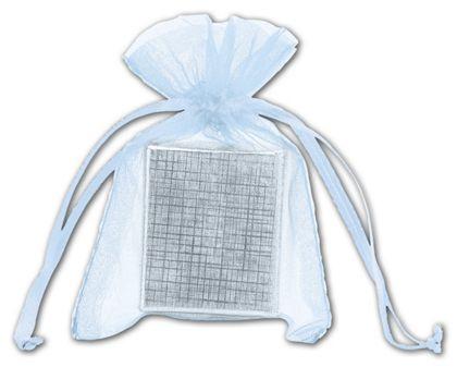 "Light Blue Organdy Bags, 3 x 4"""