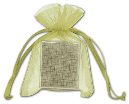"Apple Green Organdy Bags, 3 x 4"""