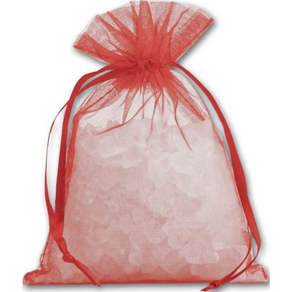 Red Organdy Bags, 4 x 5 1/2""