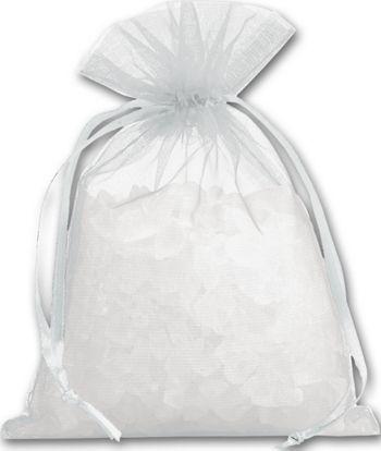 Silver Organdy Bags, 4 x 5 1/2