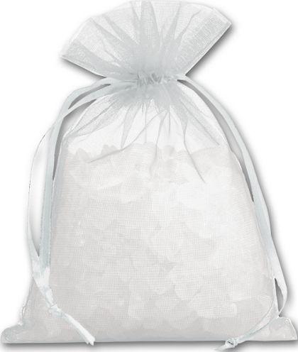 """Silver Organdy Bags, 4 x 5 1/2"""""""