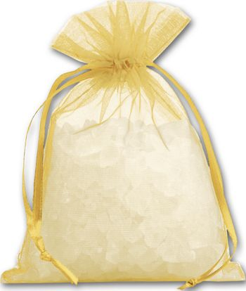 Gold Organdy Bags, 4 x 5 1/2