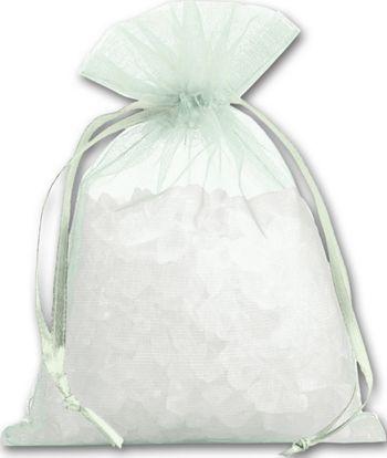 Seafoam Organdy Bags, 4 x 5 1/2