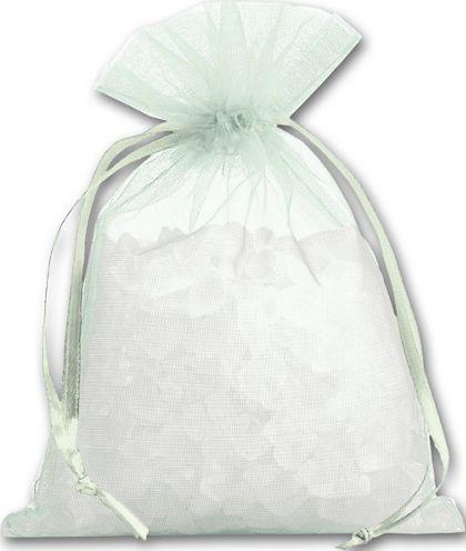 """Seafoam Organdy Bags, 4 x 5 1/2"""""""
