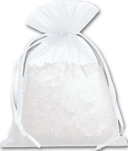 White Organdy Bags, 4 x 5 1/2""
