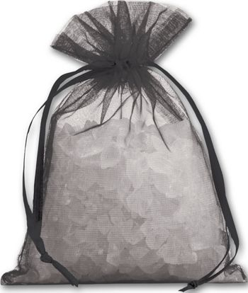 Black Organdy Bags, 4 x 5 1/2
