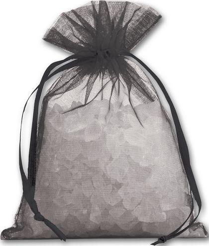 "Black Organdy Bags, 4 x 5 1/2"""