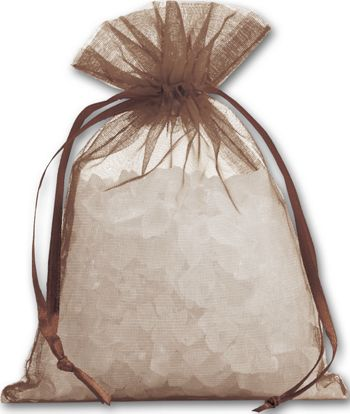 Brown Organdy Bags, 4 x 5 1/2