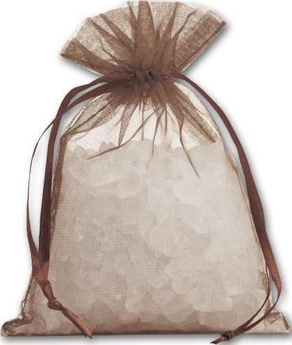 Brown Organdy Bags, 4 x 5 1/2""