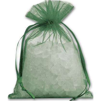 Green Organdy Bags, 4 x 5 1/2