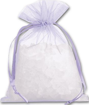 Lavender Organdy Bags, 4 x 5 1/2