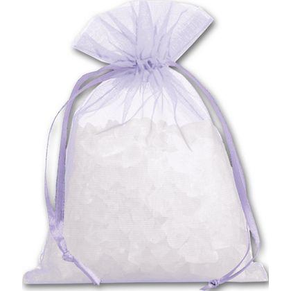 "Lavender Organdy Bags, 4 x 5 1/2"""