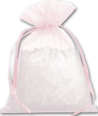 Light Pink Organdy Bags, 4 x 5 1/2""