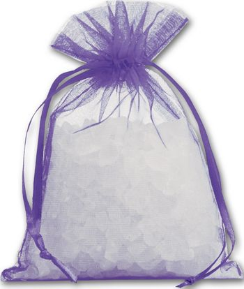 Purple Organdy Bags, 4 x 5 1/2