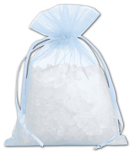 "Light Blue Organdy Bags, 4 x 5 1/2"""
