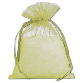 Apple Green Organdy Bags, 4 x 5 1/2