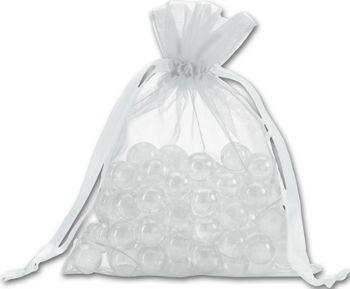 Silver Organdy Bags, 5 x 6 1/2